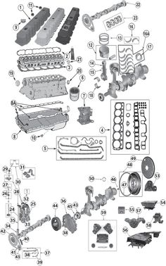 toyota engine parts diagram peterbilt 379 wiring interactive wrangler tj suspension jeep 1987 2006 4 0l 242ci inline 6 cylinder replacement