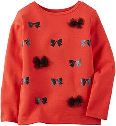 Carters Baby Girls Print Top  Bows  18 Months