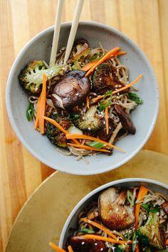 Shiitake Mushroom and Broccoli Soba Noodles #recipe #veggies #healthy