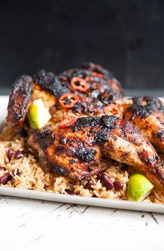 Jerk chicken- spatcock style! | Recipe from sortedfood.com