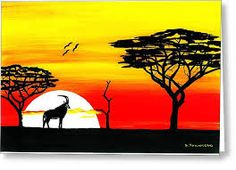Image result for black and red sunset paintings Red Sunset, Black Art, Image