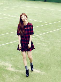 korean fashion x pleated dress x miss A Suzy Kpop Fashion, Asian Fashion, Fashion Tips, Fashion Check, Girl Day, My Girl, Ulzzang, Miss A Suzy, Bae Suzy