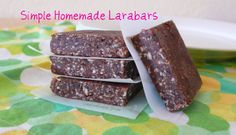 "Simple Homemade ""Larabars"""