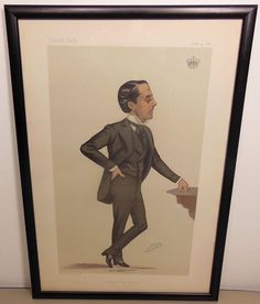 Vanity Fair original 1881 Spy Chelsea and the Colonies Lithograph Earl Cadogan