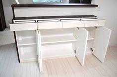 カウンター下収納 サイズ:W1670×D320×H900 家具本体税抜き価格:¥167,000.-