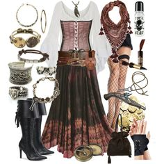 Love the accessories to this collection!! Walk The Plank, created by floodoftears on Polyvore