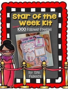 Please enjoy this 1000 Follower Fan Freebie! THANK-YOU for all of your support and for following along! What's Included in this pack: Star of the Week Poster Parent Letter Oral Presentation Rubric 2 Mailing Tube Tags (color & BW) Simply add a mailing tube (I got mine from Staples for $1.97) and you are ready to shine the spotlight on your little stars!