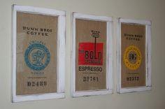 Reusable coffee sacks.