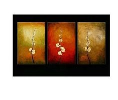 Flower Painting, Floral Art, Abstract Oil Painting, Living Room Art, M – Art Painting Canvas 3 Piece Canvas Art, 3 Piece Wall Art, Canvas Wall Art, Large Canvas, Hand Painting Art, Large Painting, Oil Painting Abstract, Painting Canvas, Abstract Canvas