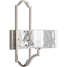 Caress Polished Nickel One-Light Wall Sconce with Glass Diffuser