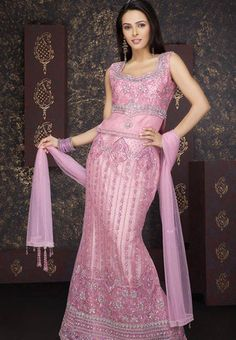 Utsav Fashion : valentine-light-pink-net-lehenga-choli-with-dupatta