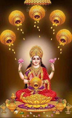 Time for wealth and riches om sai ram Lakshmi Photos, Lakshmi Images, Indian Goddess, Goddess Lakshmi, Navratri Wallpaper, Indiana, Lord Ganesha Paintings, Religion, Shiva Shakti