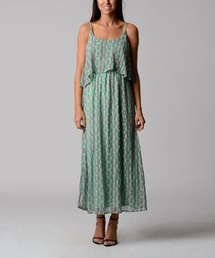 Loving this Sea Green Abstract Maxi Dress on #zulily! #zulilyfinds