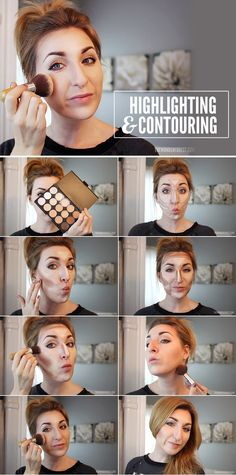 Contouring and highlighting really just takes some good placement. | 28 Makeup Charts That'll Make Your Life So Much Easier
