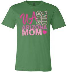 Official NCAA Venley University of Arizona Wildcats U of A Wilber Wildcat BEAR DOWN! Mom Heart Unisex T-Shirt - uofa2424