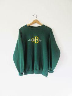 Vintage 1990s Green Bay Packer Calvin Klein Style Sweatshirt Sz L by FreshtoDeathVintage on Etsy