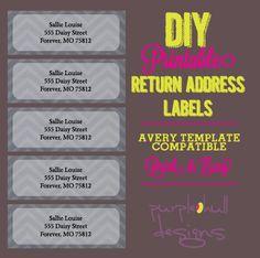 chevron return address labels black and white pink avery template diy printable customizeable instant download 30 per sheet herringbone