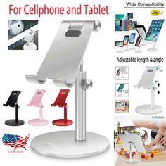 (Ad) Portable Aluminum Desk Desktop Phone Stand Holder For iPhone Cellphone Tablet US Desk Phone Holder, Iphone Holder, Iphone Stand, Cell Phone Stand, Tablet Phone, Iphone Phone, Iphone Case, Iphone S6 Plus, Ipad Stand