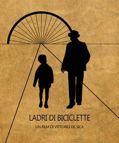 Ladri di biciclette Minimalist Movie by SuddenGravityPosters