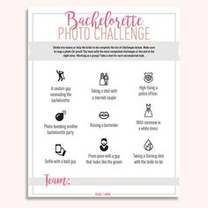 Bachelorette Photo Challenge - Free Digital Download