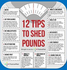 12 Tips To Shed Pounds