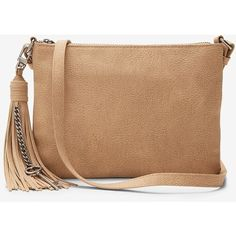 Express Tassel Key Cross Body Bag (10.675 HUF) ❤ liked on Polyvore featuring bags, handbags, shoulder bags, brown, brown shoulder bag, brown cross body purse, tassel purse, zip purse and cross-body handbag