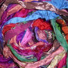 Sari ribbon for felting - yum!