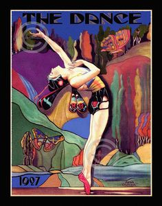 Art Deco Dancer in Fairy Butterfly costume, The Dance Mag, stage Musical Arts, choreography ballet, Jean Oldham, Giclee Print, 11x14, 1920s Dance Magazine, Magazine Art, Magazine Covers, Vintage Dance, Vintage Art, Vintage Vogue, Art Deco Posters, Vintage Posters, French Posters