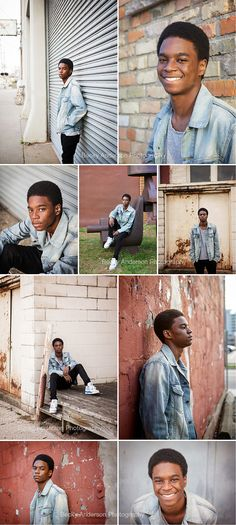 urban senior boy portraits