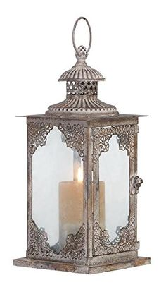 Deco 79 52900 Metal  Glass Lantern >>> For more information, visit image link.Note:It is affiliate link to Amazon. #sf
