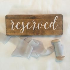 Wedding Reserved Sign Rustic Wedding Sign Reception by BriElse