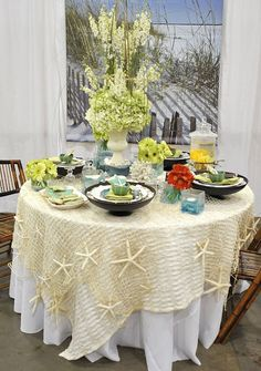 Pretty beachy table with Willow House products