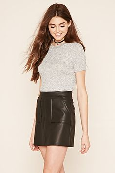 Marled Knit Top