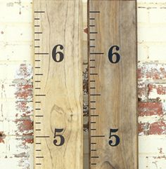Distressed Wood Growth Chart Growth Chart Ruler Vinyl DecalChild