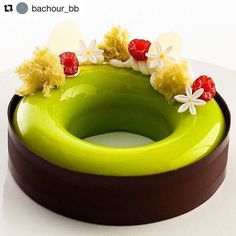 #Repost @bachour_bb with @repostapp ・・・ Pistachio raspberry entremet #chefsroll…