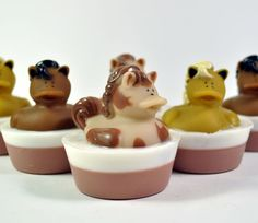 Pony Rubber Duck Soap Fun Kids Soap by PinkParchmentSoaps on Etsy, $6.00