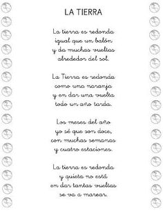 "Poesía ""LA TIERRA"" Bilingual Classroom, Classroom Labels, Bilingual Education, Classroom Ideas, Teaching Poetry, Teaching Spanish, Preschool Poems, Poetry For Kids, Spanish Songs"