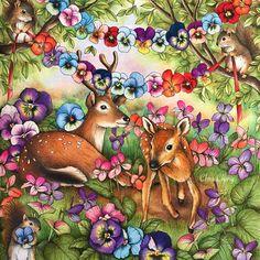 "1,686 отметок «Нравится», 73 комментариев — Chris Cheng (@colorvscolour) в Instagram: «Menuet de bonheur - Part 3 ""How I Color Cute Animals"" video is up ✍️ . #menuetdebonheur…»"