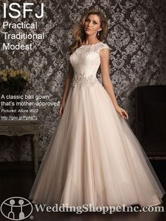 Wedding Style: Wedding Dress Shopping by Myers Briggs Personality Type: ISFJ