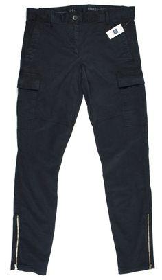 New Nwt THE GAP Size 4 Tall 4T Skinny Mini Chino Navy Blue Zip Leg Cargo Pants #GAP #Cargo
