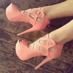 Coral colored heels