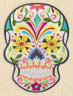 Gothic Flor de Fiesta Sugar Skull Calavera Day of por remimartin