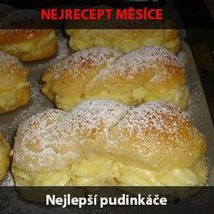 Pořád o nich čtu jak jsou výborný, tak jsem je vyzkoušela. Slovak Recipes, Czech Recipes, Slovakian Food, Baking Recipes, Cookie Recipes, Czech Desserts, Catering Trays, Bread Dough Recipe, German Baking