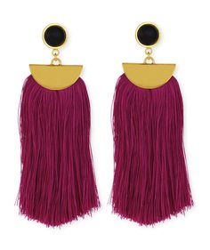 Parrot Tassel Drop Earrings