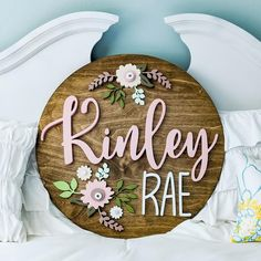 24 Round Floral Baby Name Sign Nursery Name, Nursery Signs, Girl Nursery, Nursery Decor, Cute Baby Girl Names, Unique Baby Names, Baby Love, Names Baby, Wood Name Sign