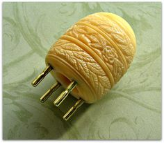 Carved Tagua Nut Spool Knitter