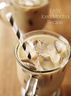 This easy iced mocha is a refreshing treat anytime of year!