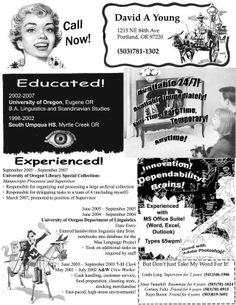 Unemployment Resume Creative Cv  Résumé  Products I Love  Pinterest  Creative Cv .