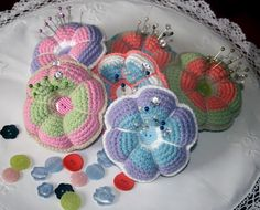 crocheted pin cushion pattern