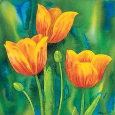 Composizione di tulipani